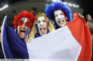 XV de France : Les Bleus �taient derri�re les footballeurs