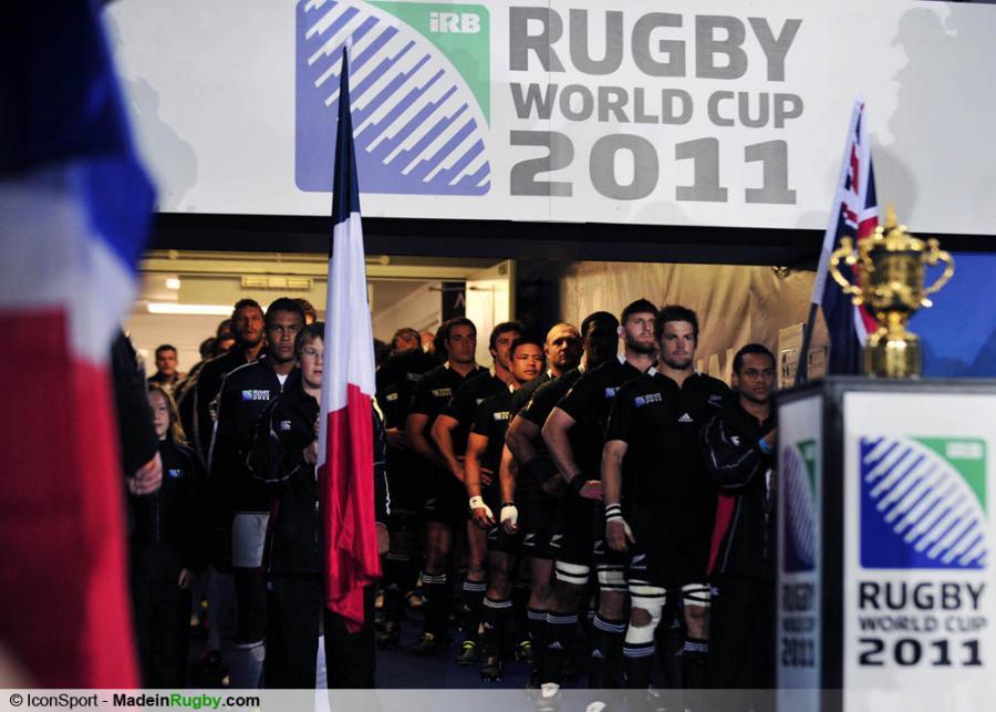 Photos foot equipes avant la finale france nouvelle zelande finale de la - Finale coupe du monde de rugby 2011 video ...