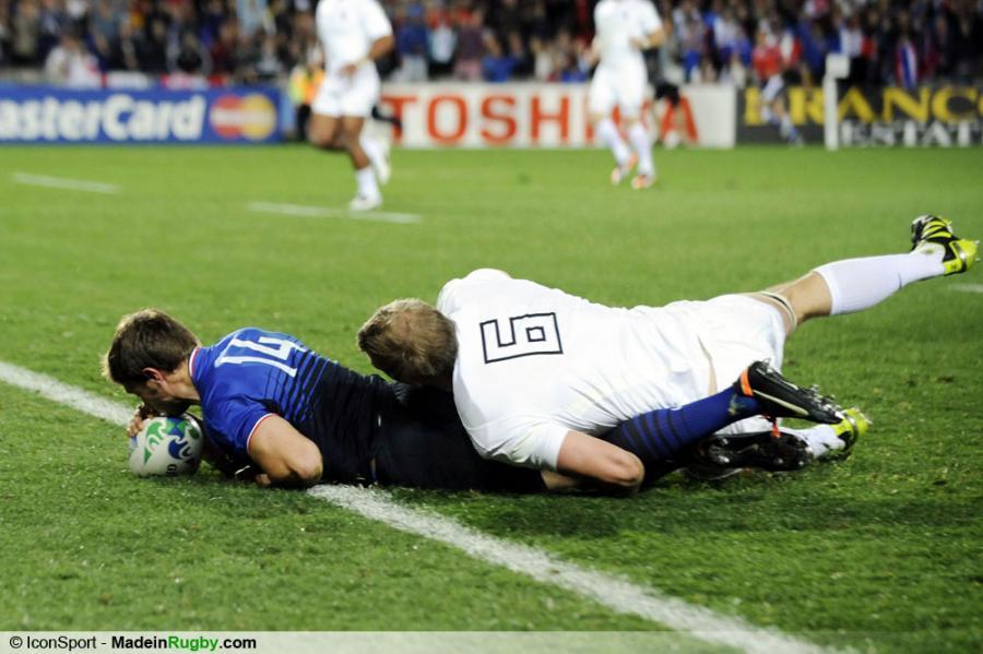 Photos foot essai de vincent clerc angleterre france 1 4 finale coupe du - Finale coupe du monde de rugby 2011 video ...