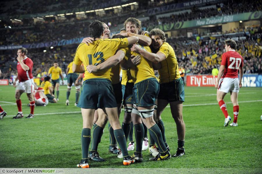 Photos foot joie australie pays de galles australie match pour la 3eme - Place finale coupe du monde rugby ...