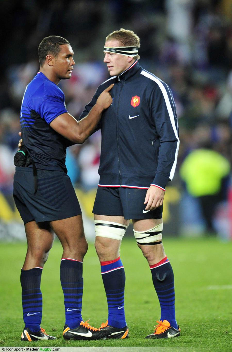 Photos foot joie france thierry dusautoir imanol harinordoquy angleterre - Finale coupe du monde rugby 2011 ...
