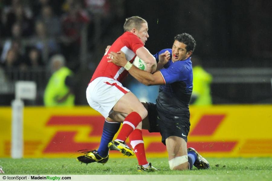 Photos foot shane williams maxime mermoz france pays de galles 1 2 finale - Finale coupe du monde de rugby 2011 video ...