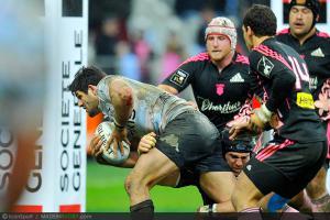Photos Rugby : Essai de Fabrice ESTEBANEZ - 01.12.2012 - Racing Metro 92 / Stade Francais - 12e journee Top 14