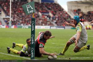 Photos Rugby : essai de Vincent Clerc  - 08.12.2012 - Toulouse / Osprey  - Heineken Cup