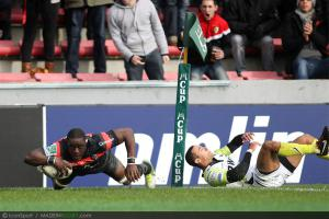 Photos Rugby : Essai de Yannick Nyanga  - 08.12.2012 - Toulouse / Osprey  - Heineken Cup