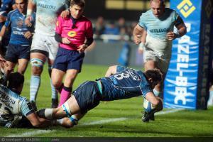 Photos Rugby : Essai John BEATTIE - 01.12.2012 - Montpellier / Bayonne - 12e journee Top 14