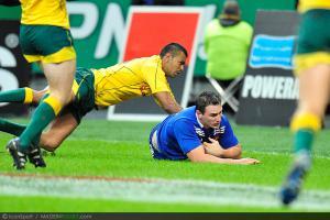 Photos Rugby : Essai Louis PICAMOLES - 10.11.2012 - France / Australie - Test Match -Saint Denis-