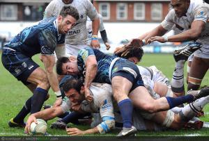 Photos Rugby : Essai Mamuka Gorgodze - 09.12.2012 - Cardiff Blues / Montpellier - Heineken Cup -