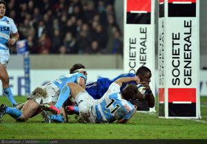 Photos Rugby : Essai Yannick NYANGA  - 17.11.2012 - France / Argentine - Test Match