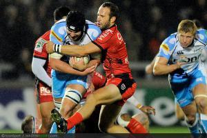 Photos Rugby : Fraser McKenzie /  Frederic Michalak   - 08.12.2012 - Sale / Toulon  - Heineken Cup