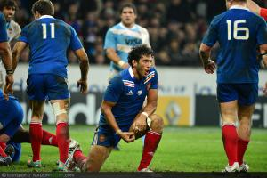 Photos Rugby : Joie Maxime MERMOZ   - 17.11.2012 - France / Argentine - Test Match
