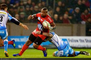 Photos Rugby : Mathieu Bastareaud  - 08.12.2012 - Sale / Toulon  - Heineken Cup