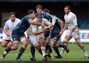 Photos Rugby : Maximiliano Bustos / Andries Pretorius - 09.12.2012 - Cardiff Blues / Montpellier - Heineken Cup -