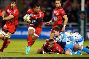 Photos Rugby : Steffon Armitage - 08.12.2012 - Sale / Toulon  - Heineken Cup