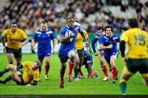 Photos Rugby : Yannick NYANGA - 10.11.2012 - France / Australie - Test Match -Saint Denis-