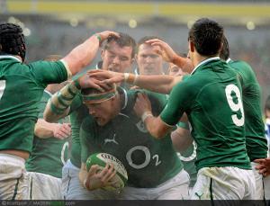 VI Nations - 1 ere journ�e : L'Irlande dispose de l'Ecosse