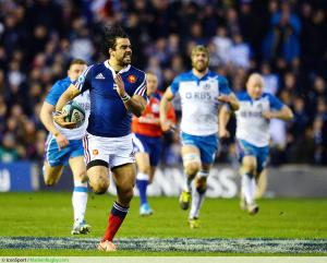 Essai Yoann Huget - 08.03.2014 - Ecosse / France - Tournoi des 6 Nations -Murrayfield -Edimbourg